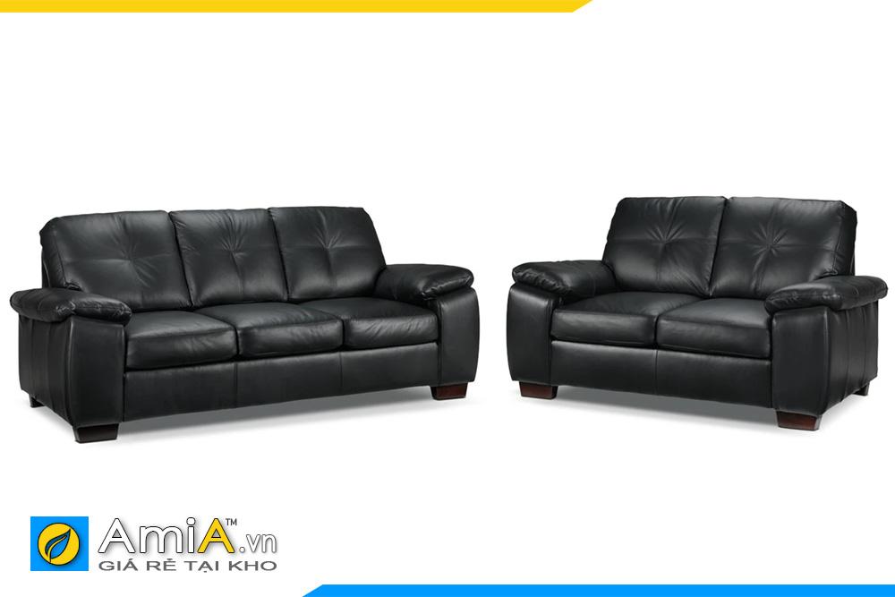 Bộ ghế sofa da đẹp màu đen