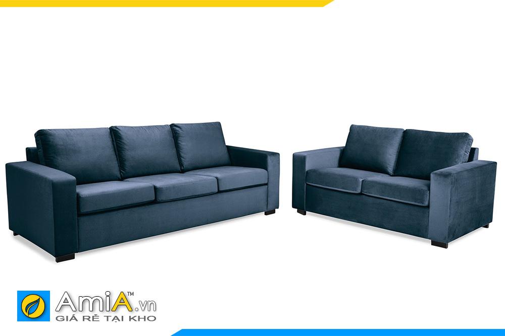 Mẫu sofa phòng khách với gam màu xanh đen