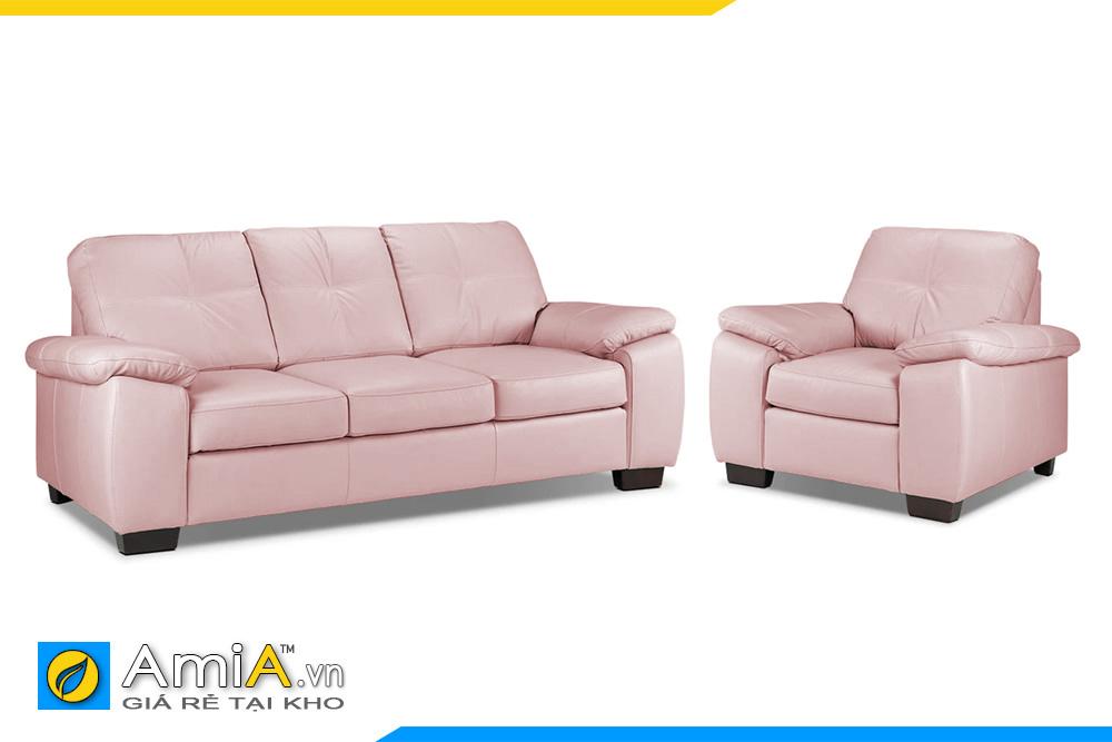 sofa phòng khách màu phớt hồng