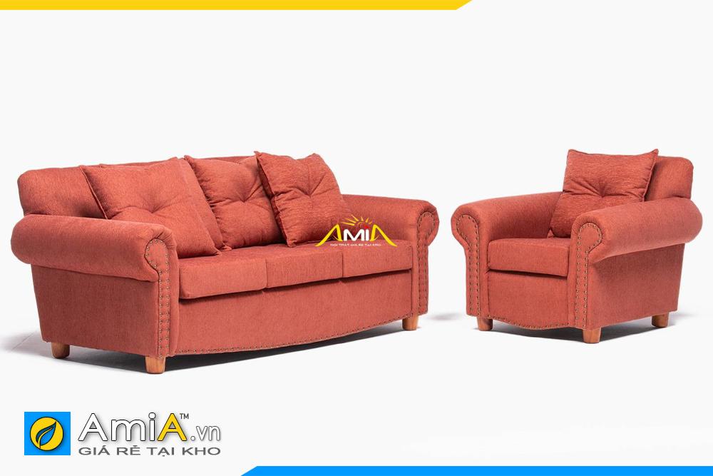 sofa phòng khách tân cổ màu cam