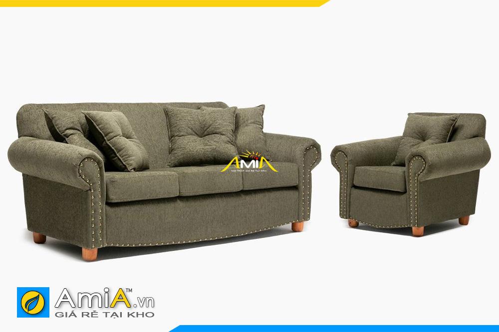 sofa tân cổ màu xanh rêu