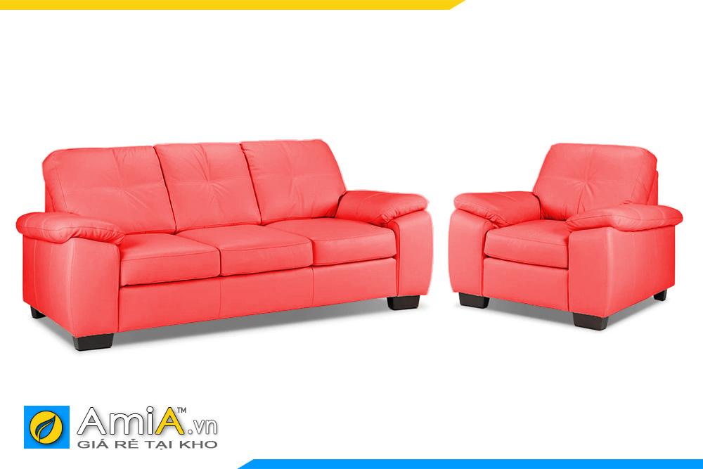 Mẫu sofa phòng khách màu đỏ AmiA 20105A