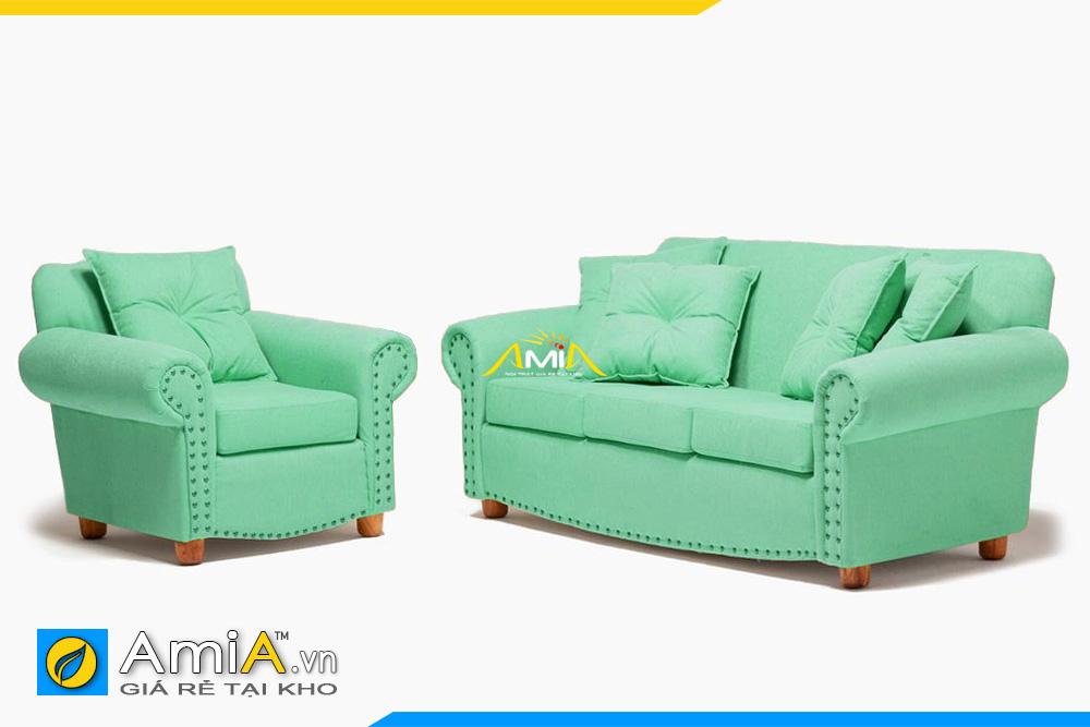 sofa tân cổ điển màu xanh