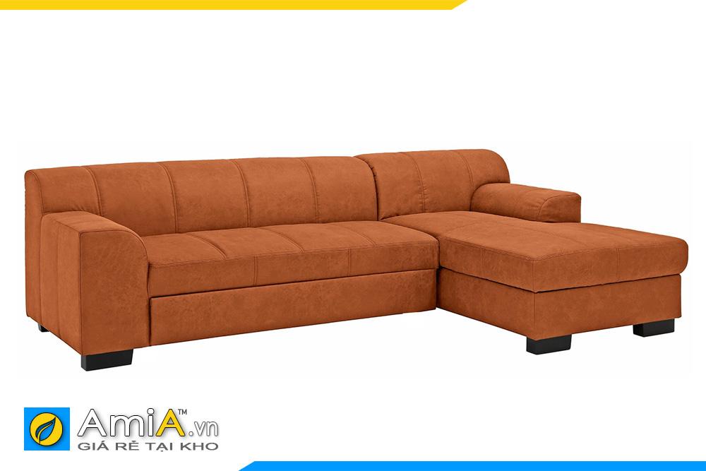 sofa góc chữ L đẹp màu cam