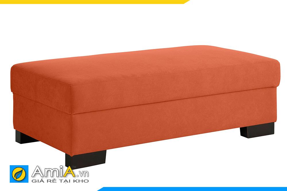 ghế sofa đôn dài màu cam giá rẻ