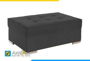 sofa đôn chữ nhật màu ghi