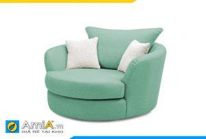 ghế sofa đơn hình tròn đẹp màu xanh