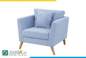 ghế sofa đơn giá rẻ màu xanh nhạt