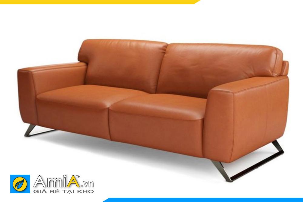 ghế sofa da màu cam nhỏ mini