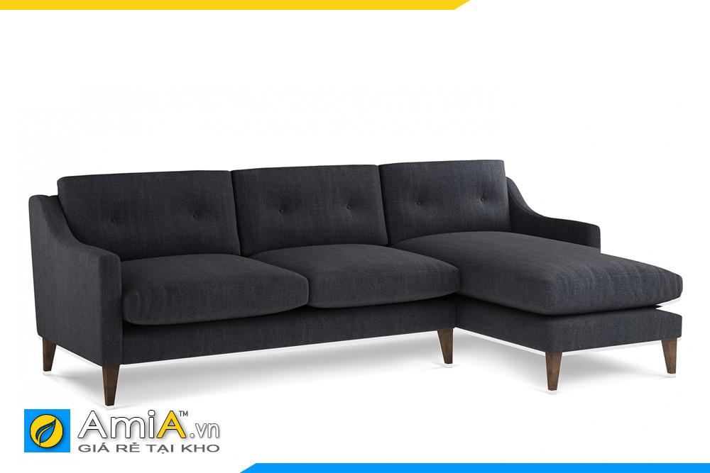 sofa bọc nỉ giá rẻ màu đen