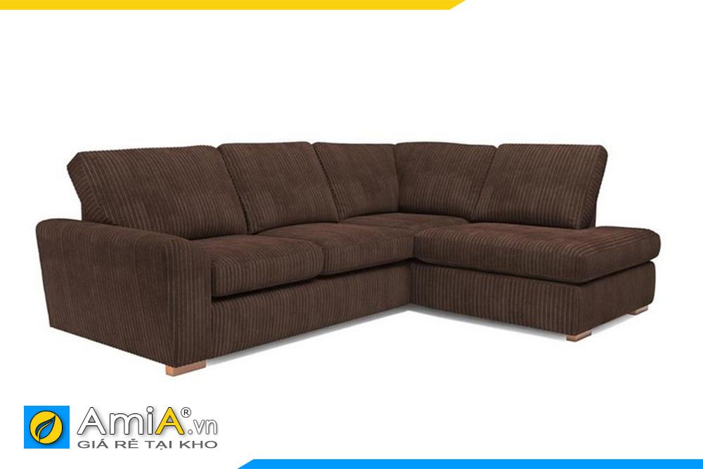 sofa bọc nỉ vải thô đep