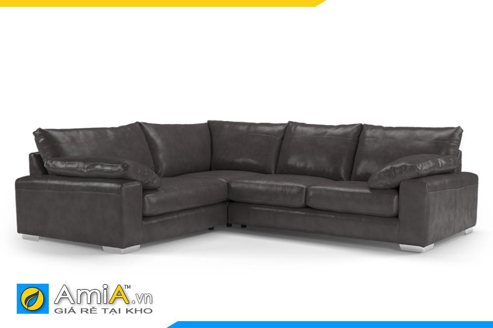 ghế sofa da đẹp dáng thấp AmiA 20041