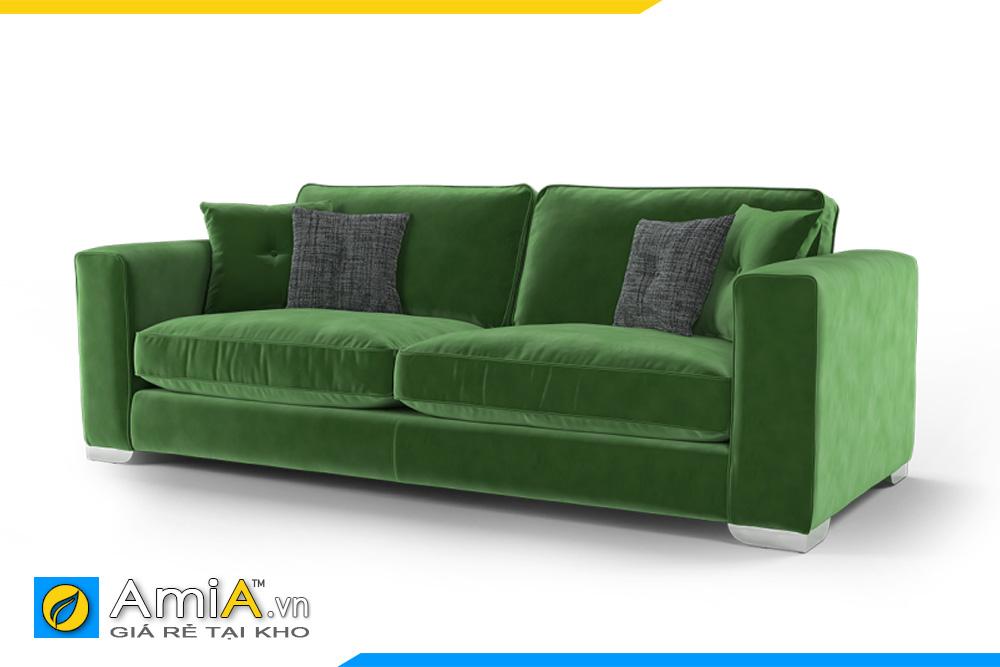 sofa phòng khách nhỏ màu xanh