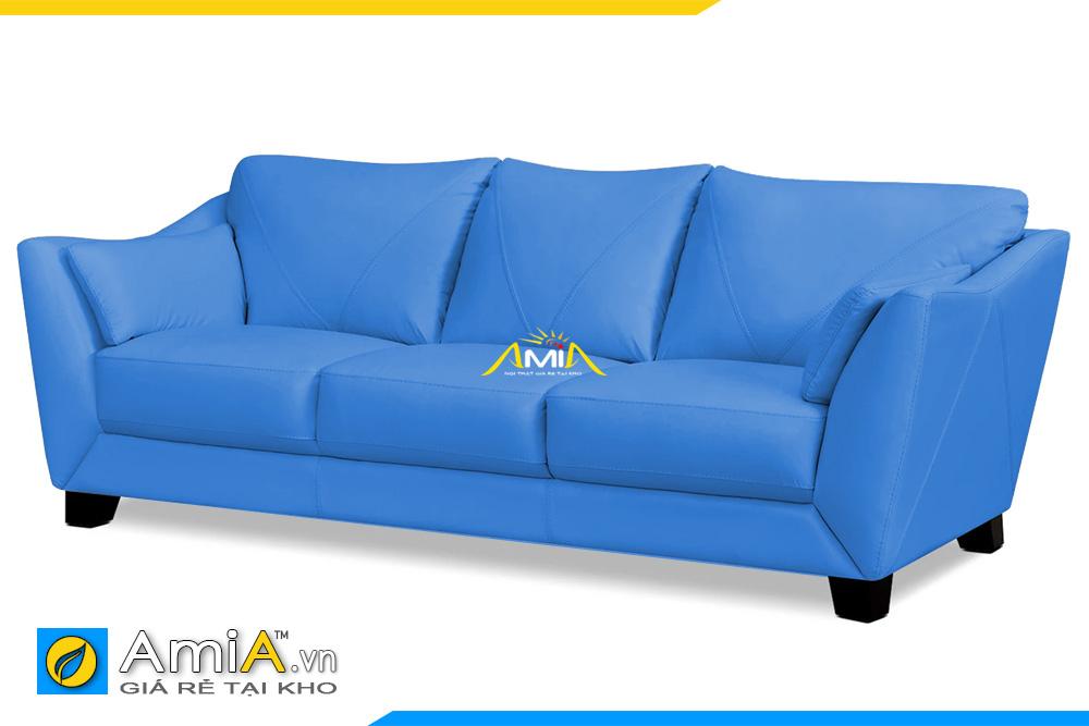sofa da màu xanh 3 chỗ ngồi