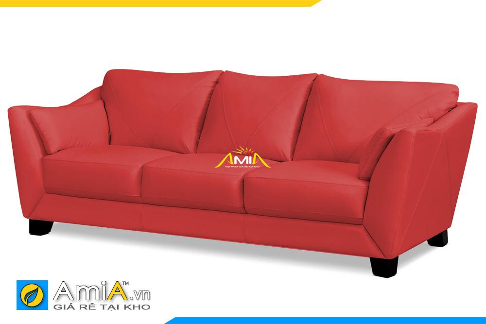 ghế sofa da màu đỏ 3 chỗ
