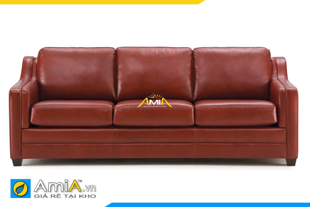 ghế sofa da màu nâu da bò