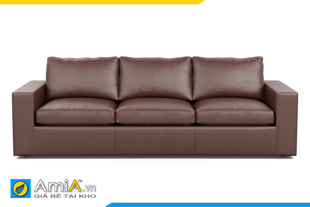 Ghế sofa văng da đẹp màu cafe