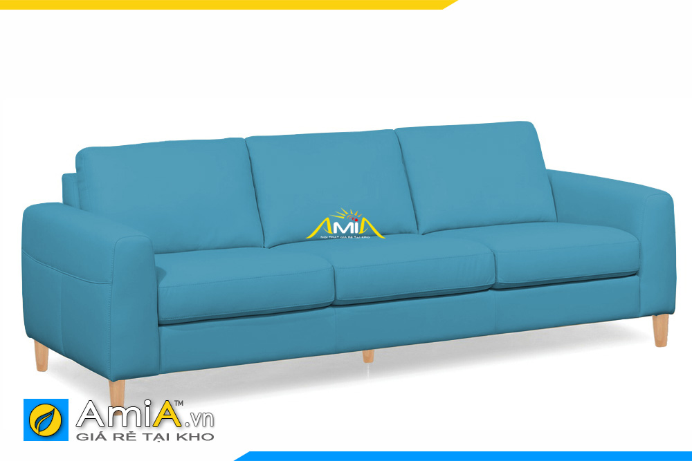 ghế sofa da đẹp dạng văng dài