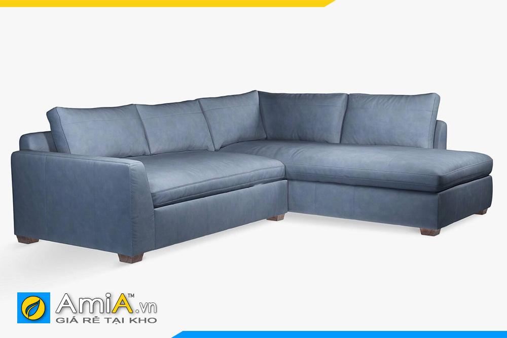 ghế sofa da màu ghi AmiA 20049