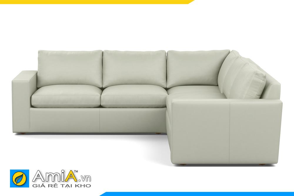 ghế sofa góc đẹp bọc da