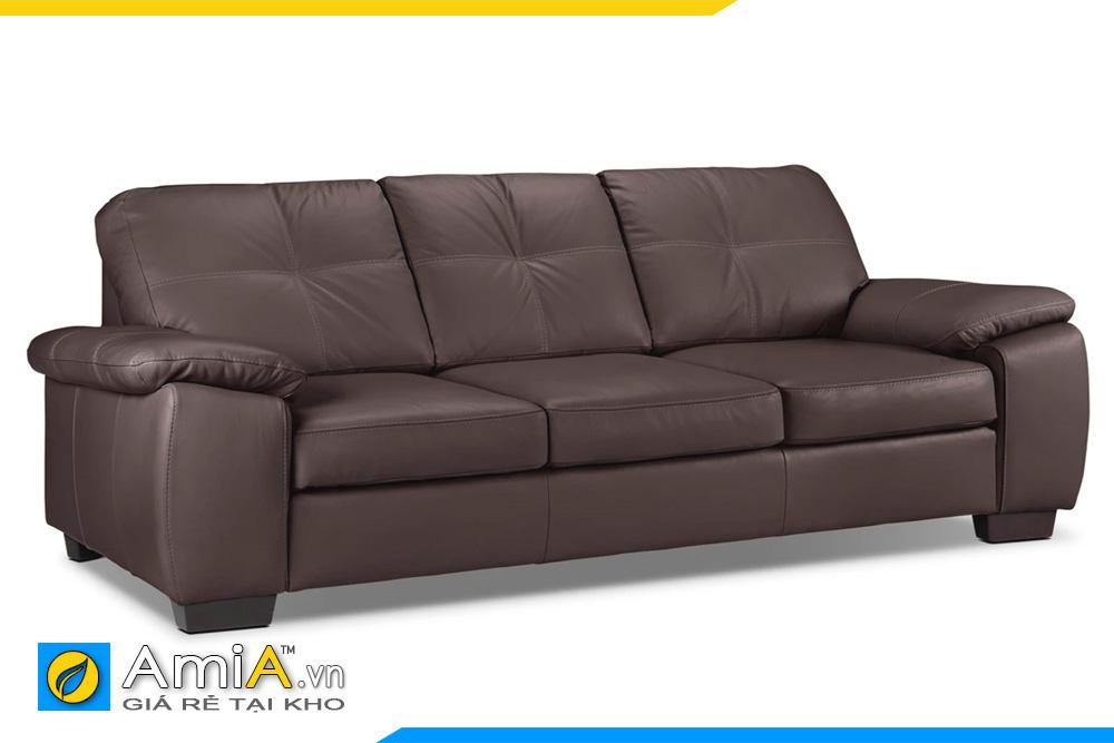 Sofa da màu socola