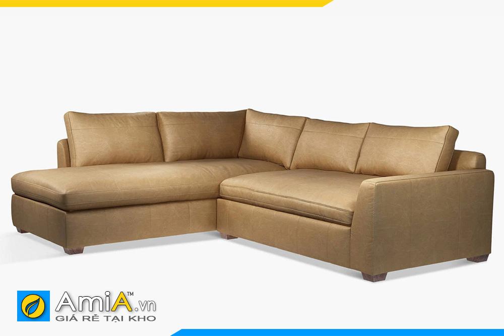sofa da màu nâu vàng
