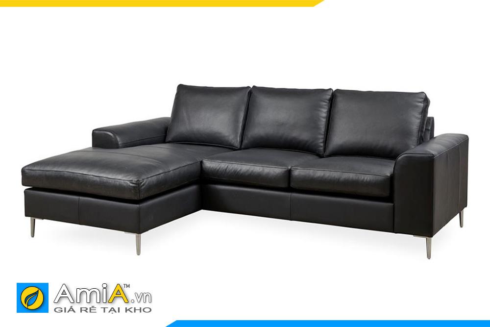 ghế sopha da màu đen