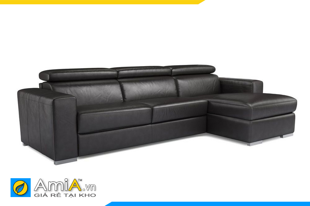 sofa màu đen chất liệu da
