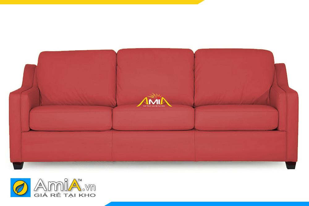 ghế sofa văng da đẹp màu đỏ AmiA 20225
