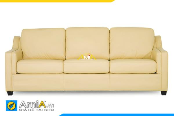 ghế sofa da màu vàng nhỏ gọn