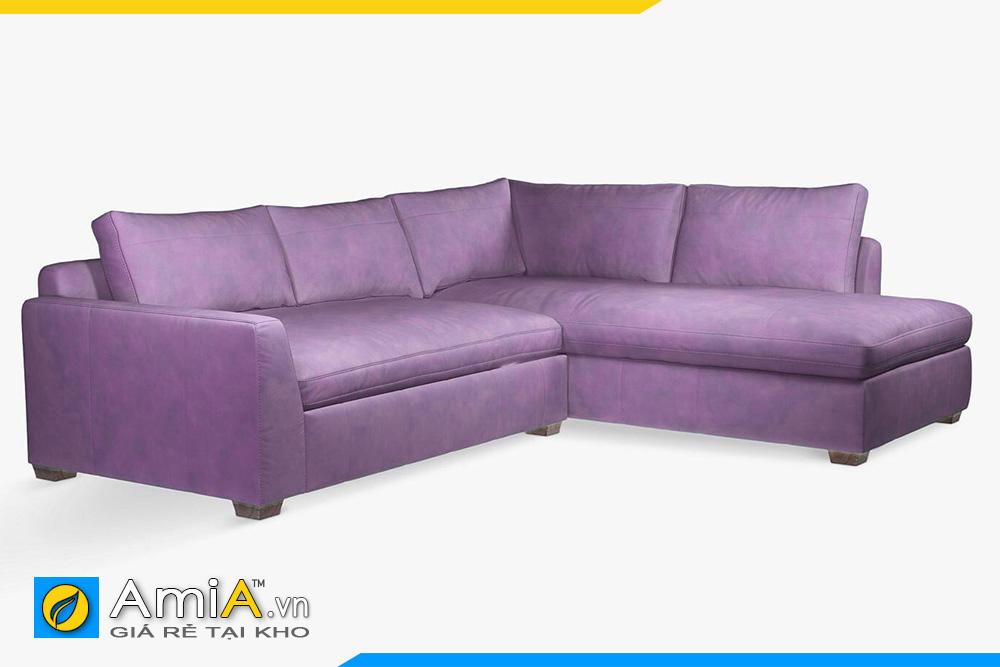 Ghế sofa da đẹp màu tím