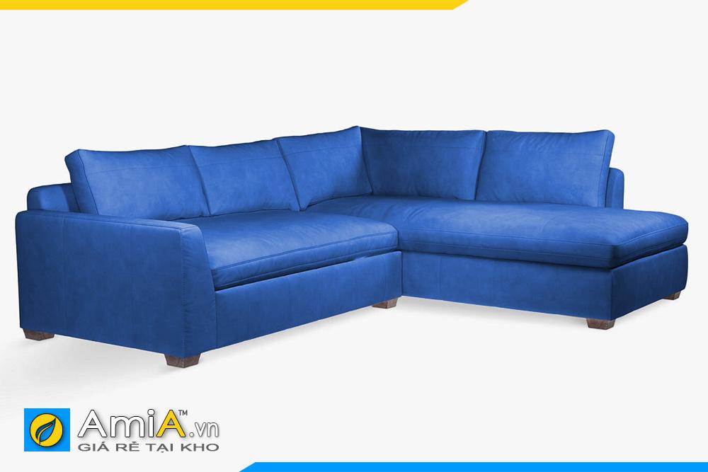 ghế sofa da màu xanh