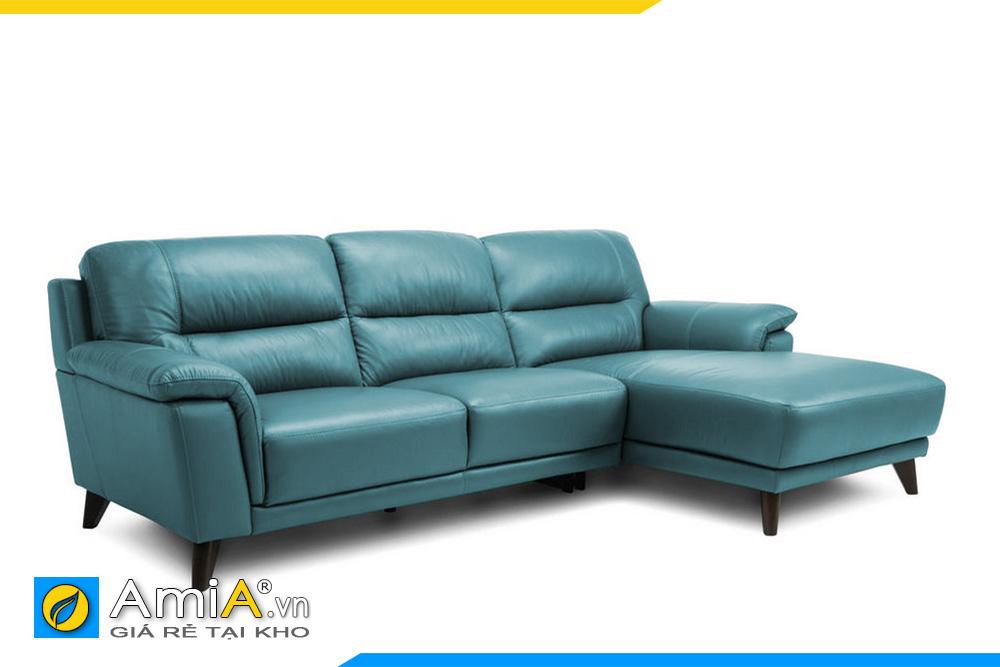 sofa da màu xanh ngọc đẹp