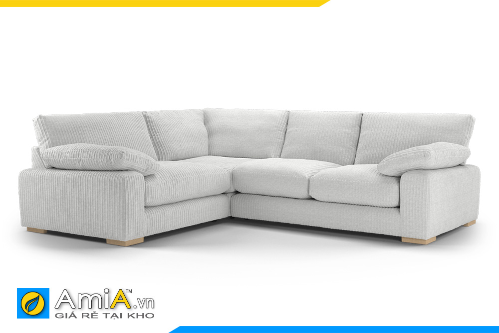 sofa nỉ đẹp nệm mút êm ái dáng thấp