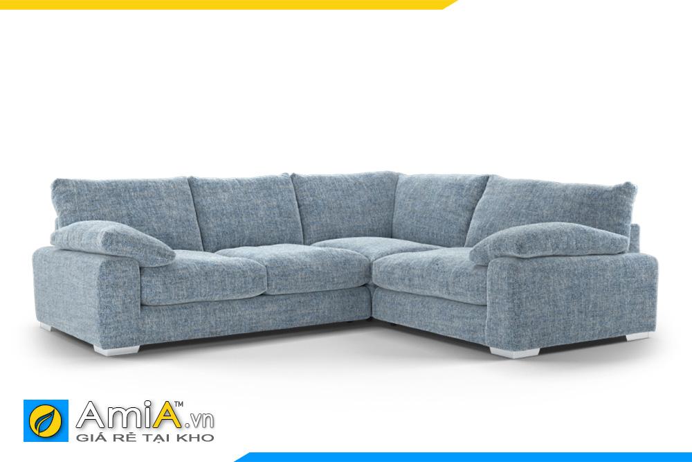 ghế sofa nỉ màu ghi xanh