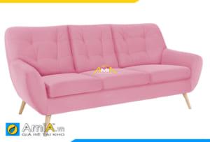 mẫu ghế sofa màu hồng AmiA 20212