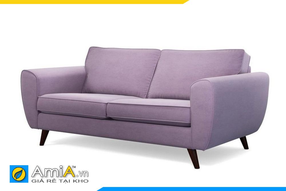 Mẫu ghế sofa văng 2 chỗ màu tím than nhạt