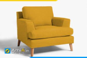 sofa đơn 1 chỗ màu vàng