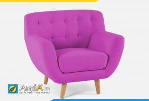 ghế sofa đơn nữ màu tím