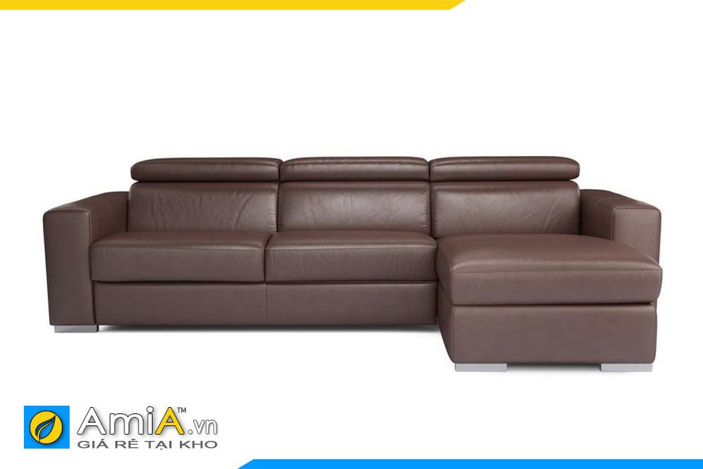 Sofa sofa da màu nâu đất