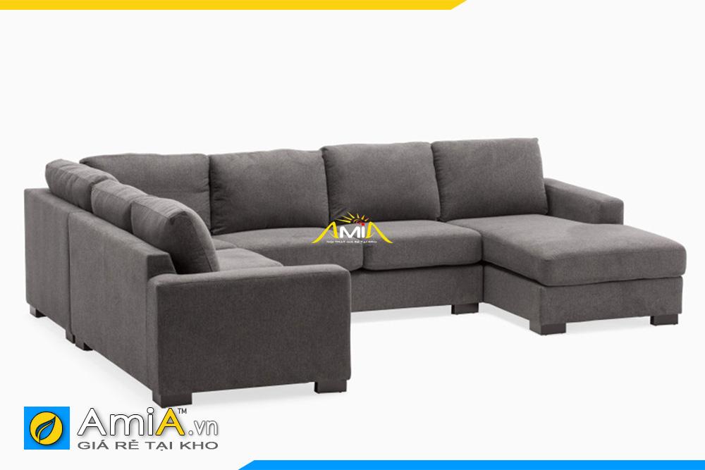 sofa phòng khách lớn bọc nỉ