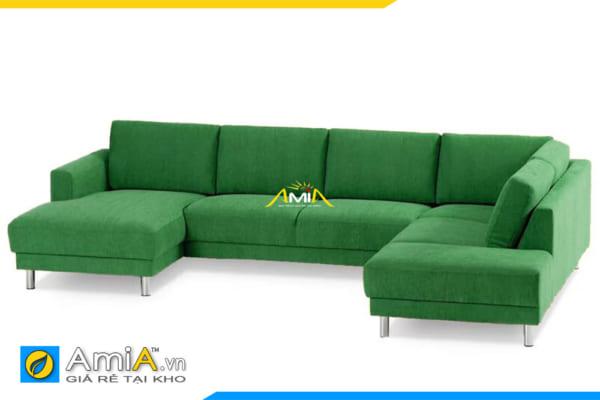 ghế sofa góc chữ U rộng rãi