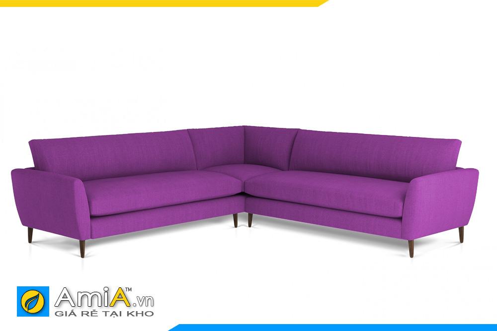 ghế sofa chữ V màu tím AmiA 20095