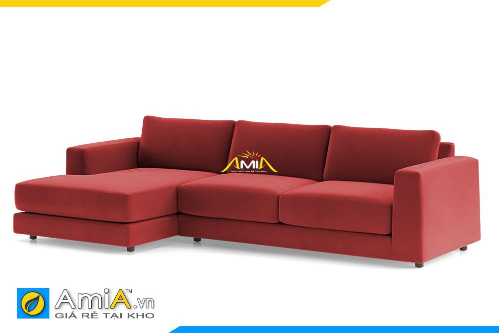 ghế sofa nỉ giá rẻ màu đỏ AmiA 20228