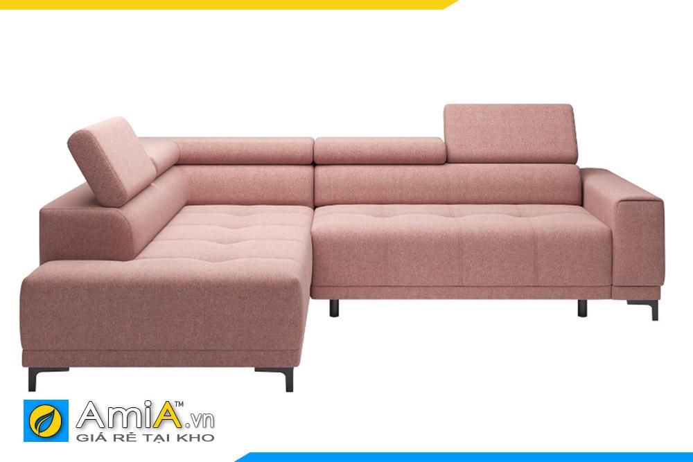 sofa góc đẹp màu hồng phai