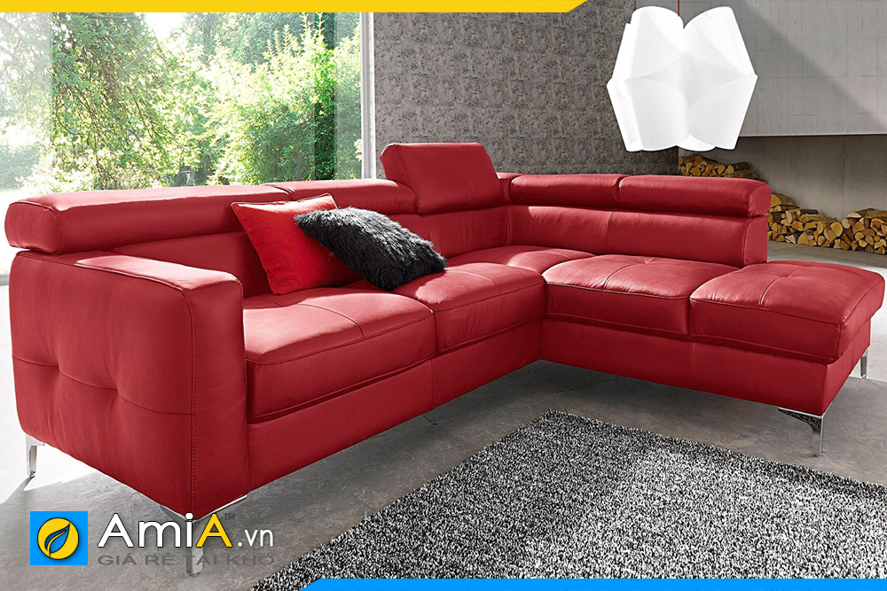 ghế sofa phòng khách màu đỏ