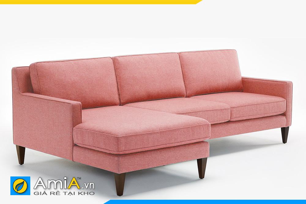 ghế sofa phòng khách đẹp màu hồng