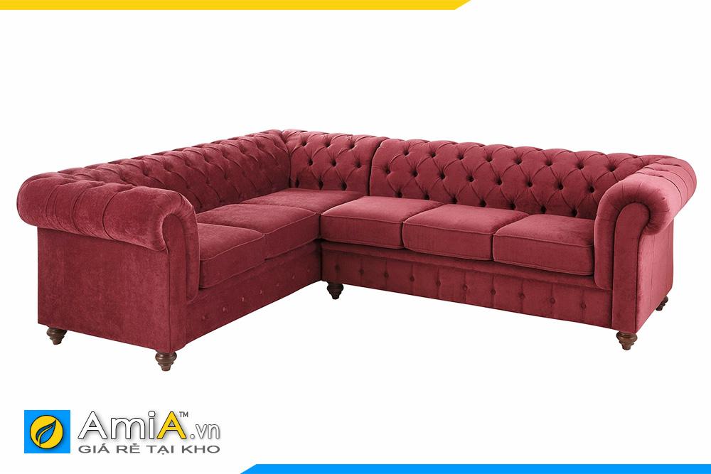 ghế sofa tân cổ điển màu đỏ