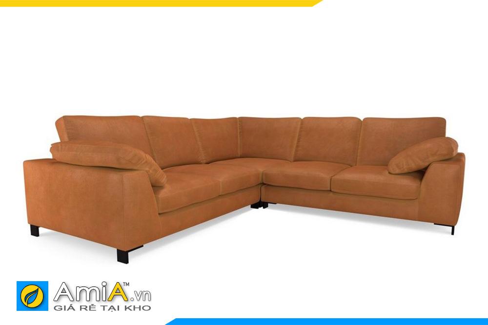 ghế sofa nỉ thô màu cam