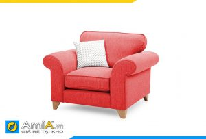 Ghế sofa màu đỏ 1 chỗ ngồi đẹp